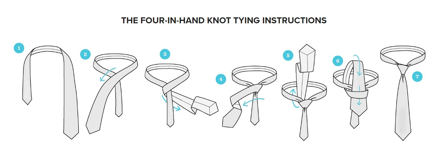 Tying guide for Four in Hand