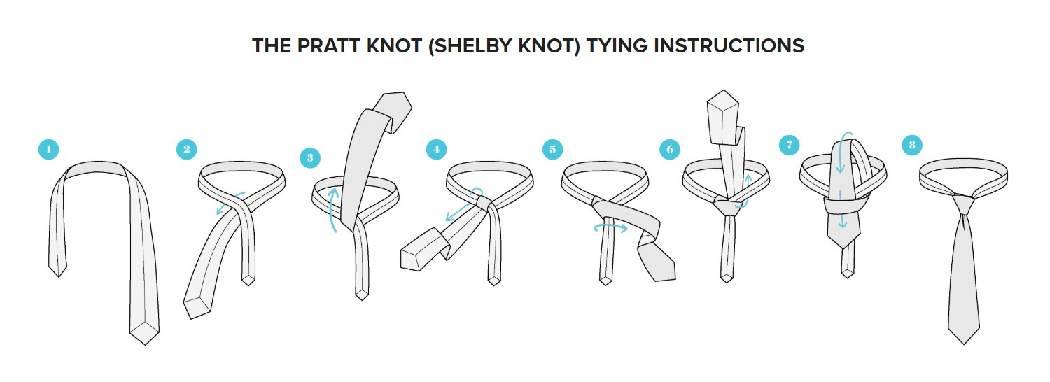 Tying guide for Shelby knot